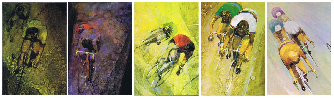 Hajime Kato artwork on Suntour Postcards