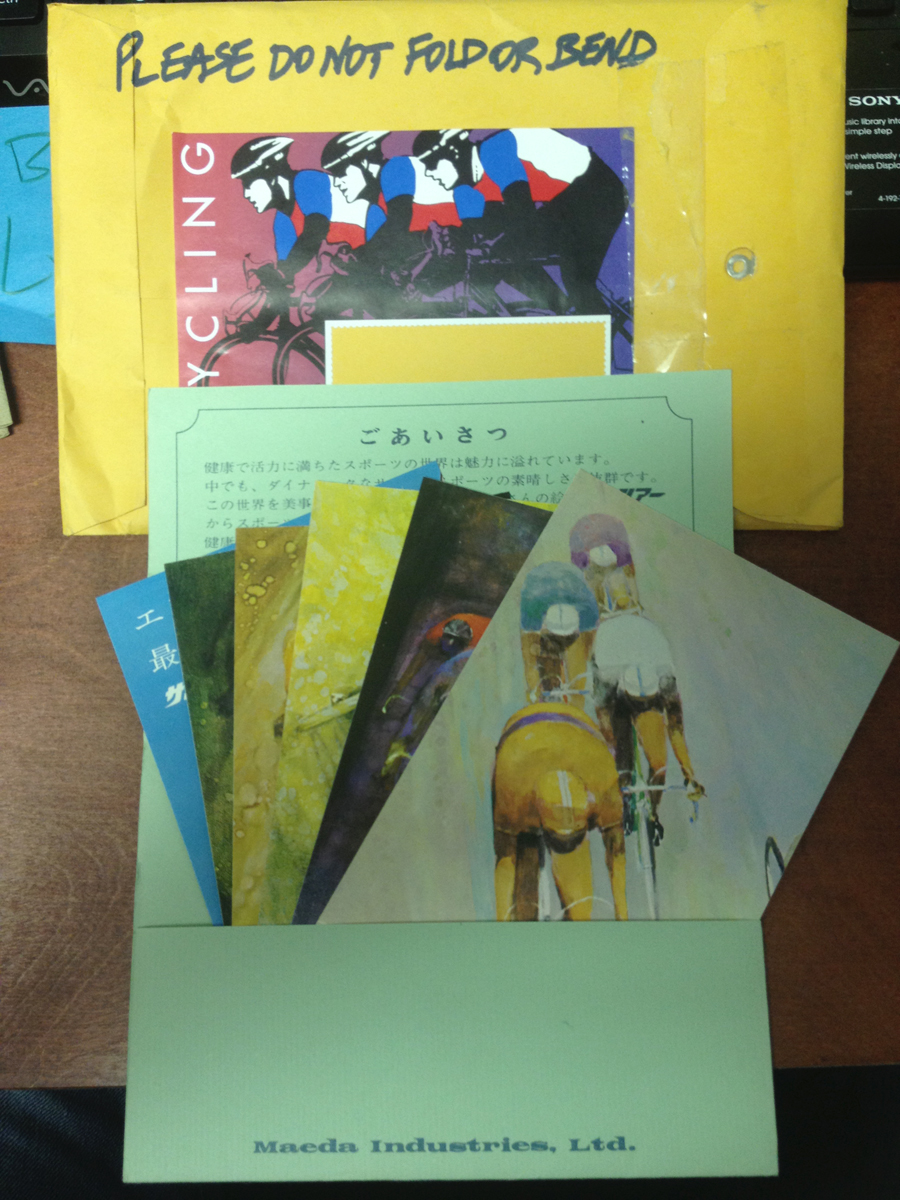 Vintage Hajime Kato Paintings SunTour Postcard set
